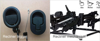 Recliner mechanisms and triggers