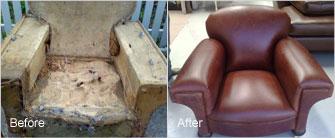 Complete reupholstering
